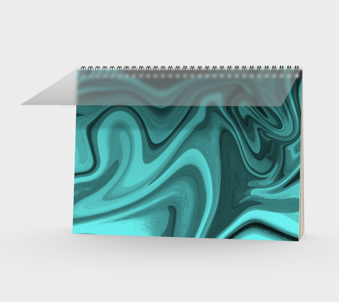 Teal Twirl Spiral Notebook preview