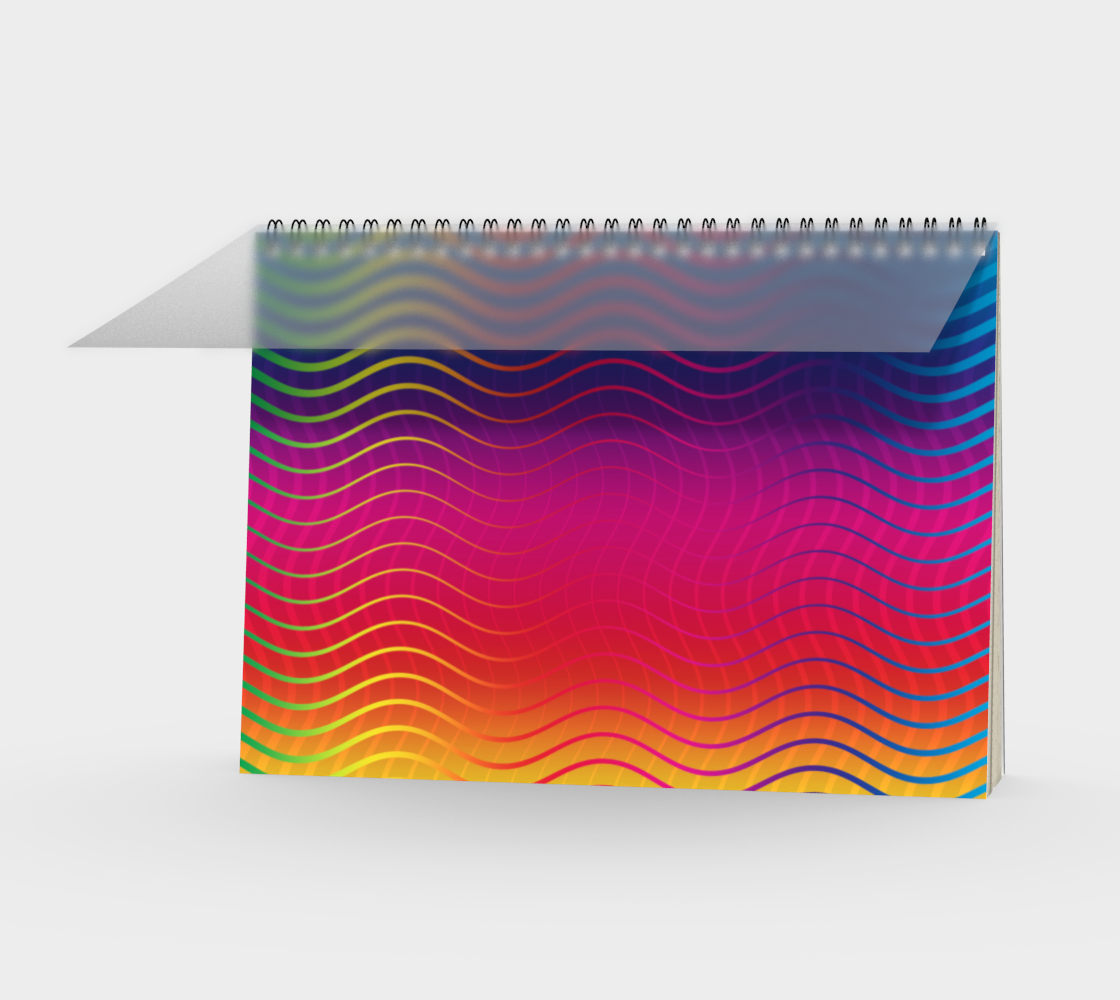 Rippled Rainbow Waves Spiral Notebook preview