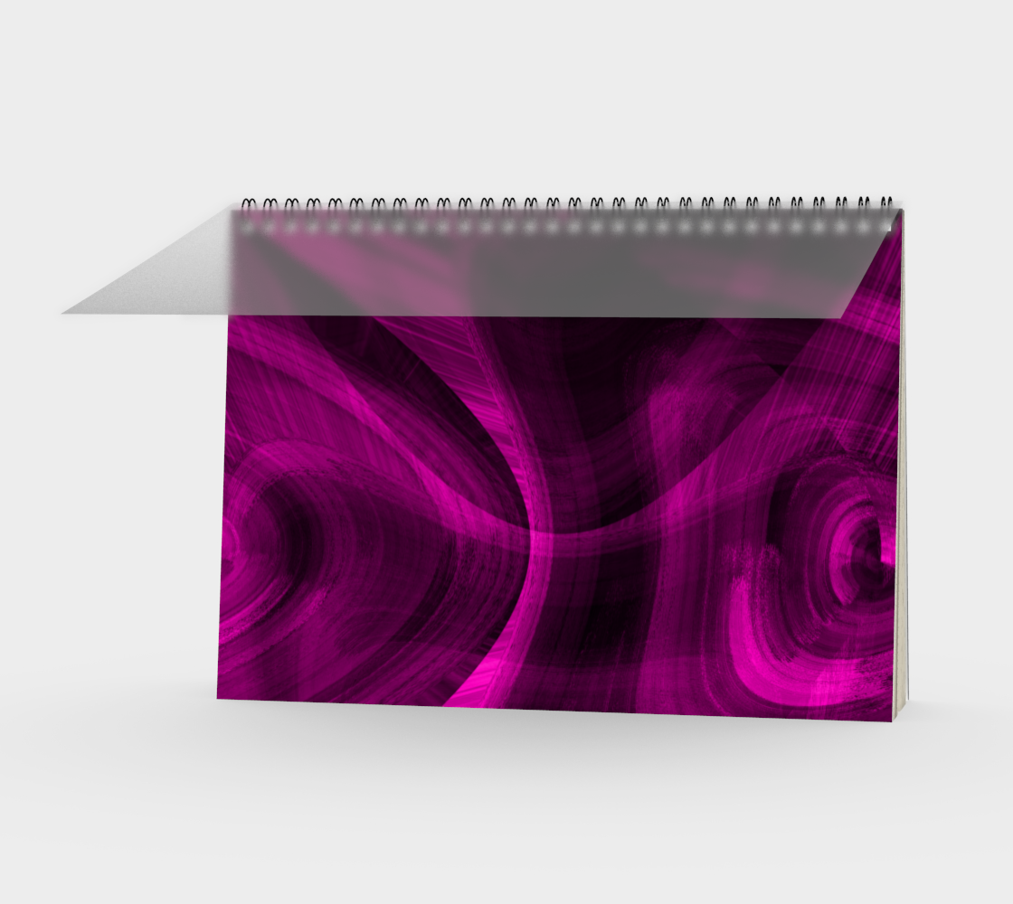 Pinkish Black Hole Spiral Notebook preview