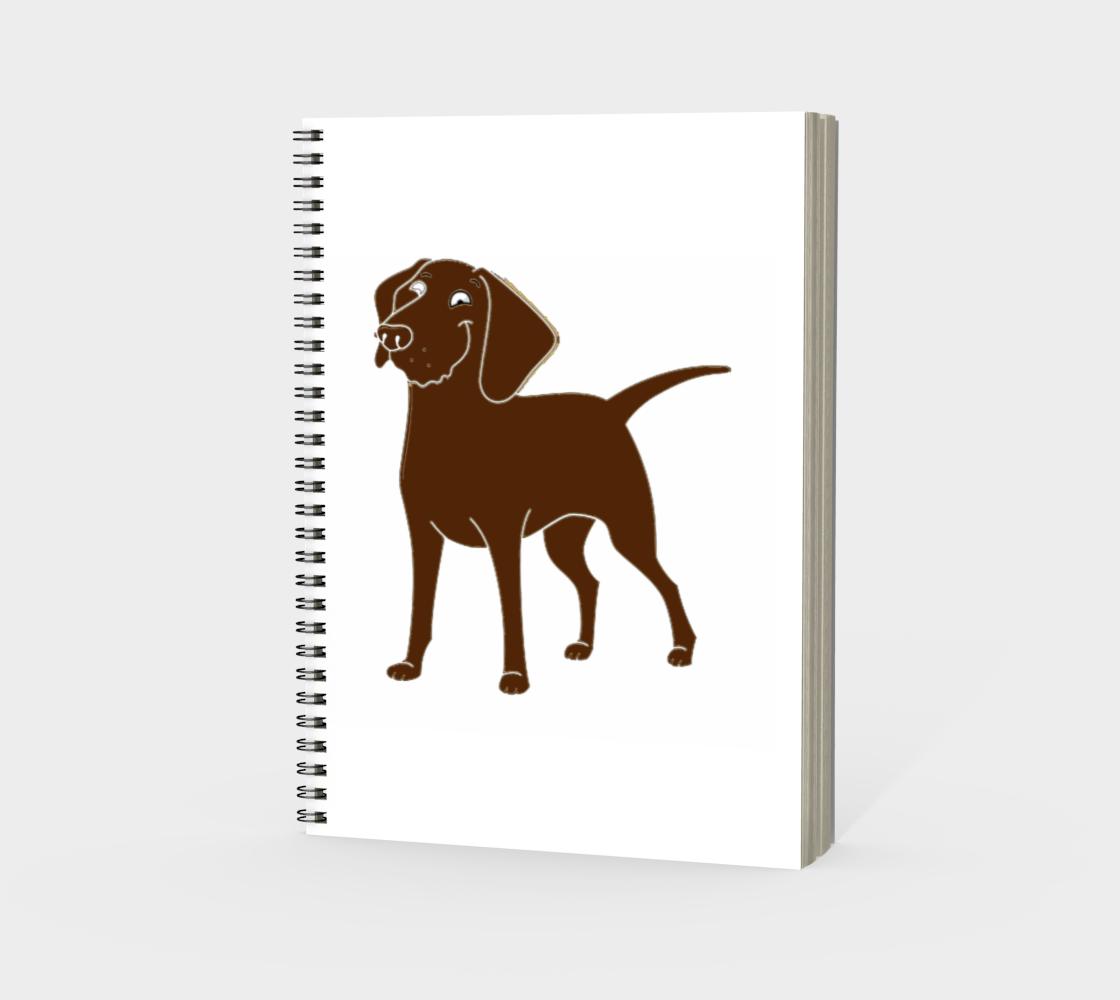 Labrador Retriever chocolate cartoon spiral notebook preview #3