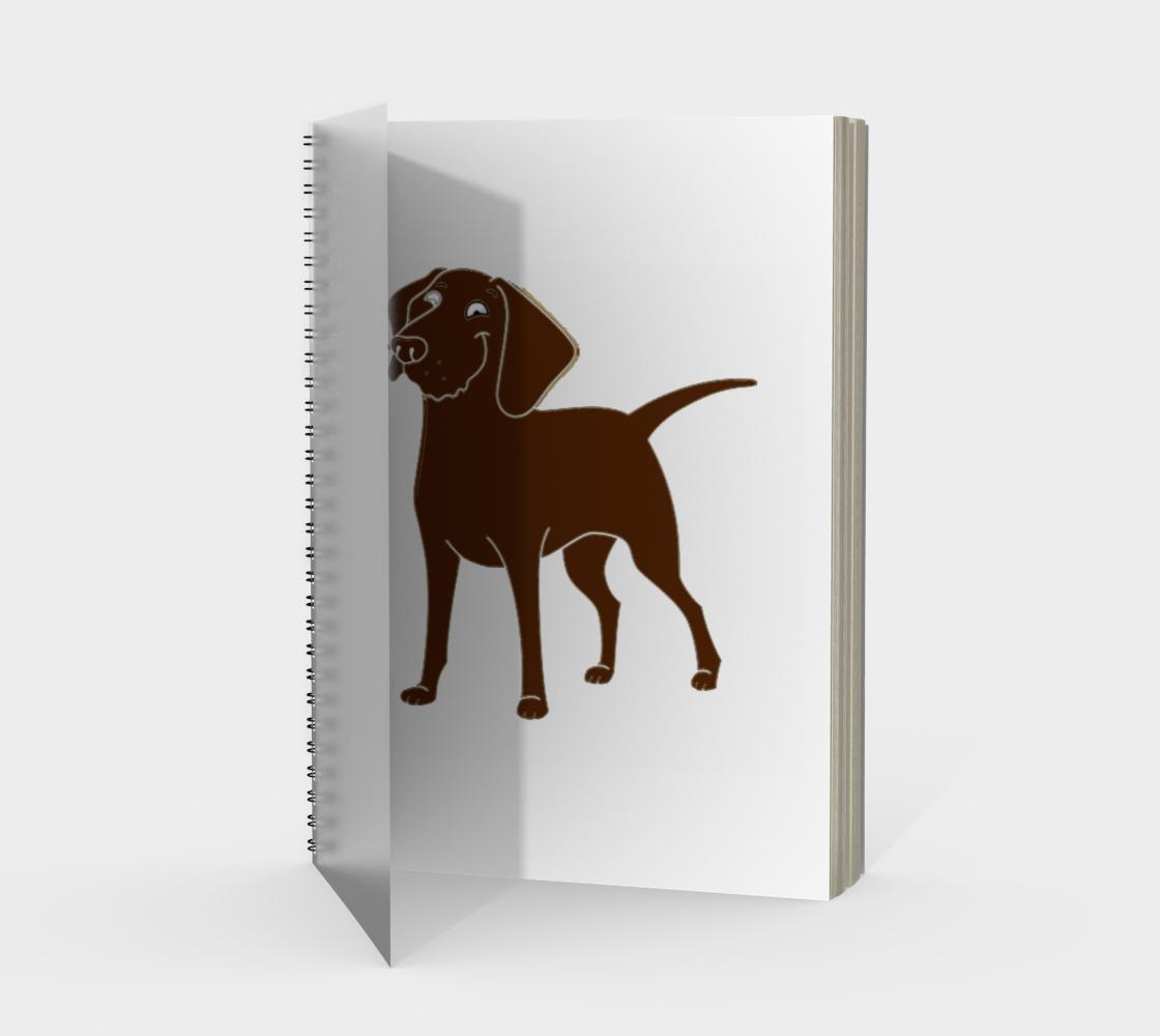 Labrador Retriever chocolate cartoon spiral notebook preview