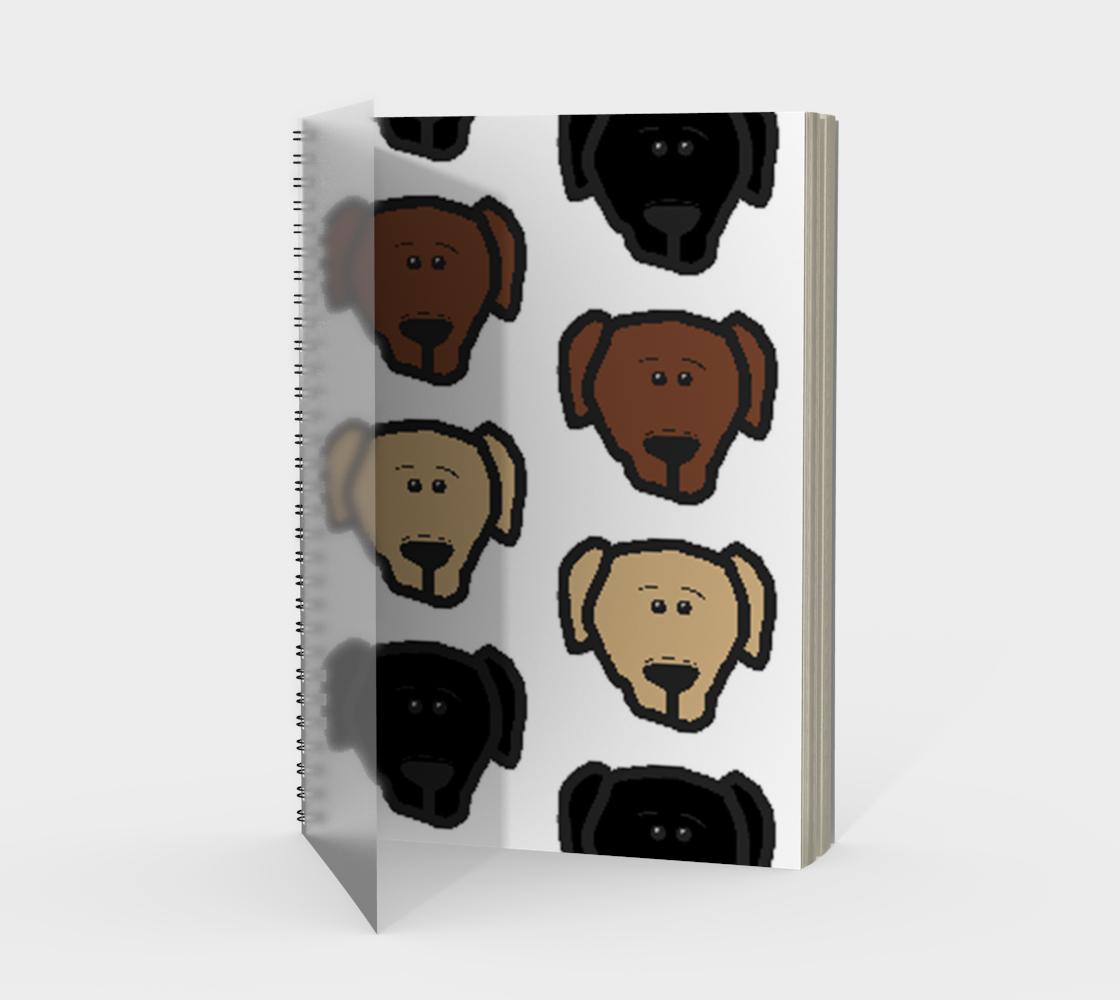 Labrador Retriever all 3 colors cartoon heads spiral notebook preview