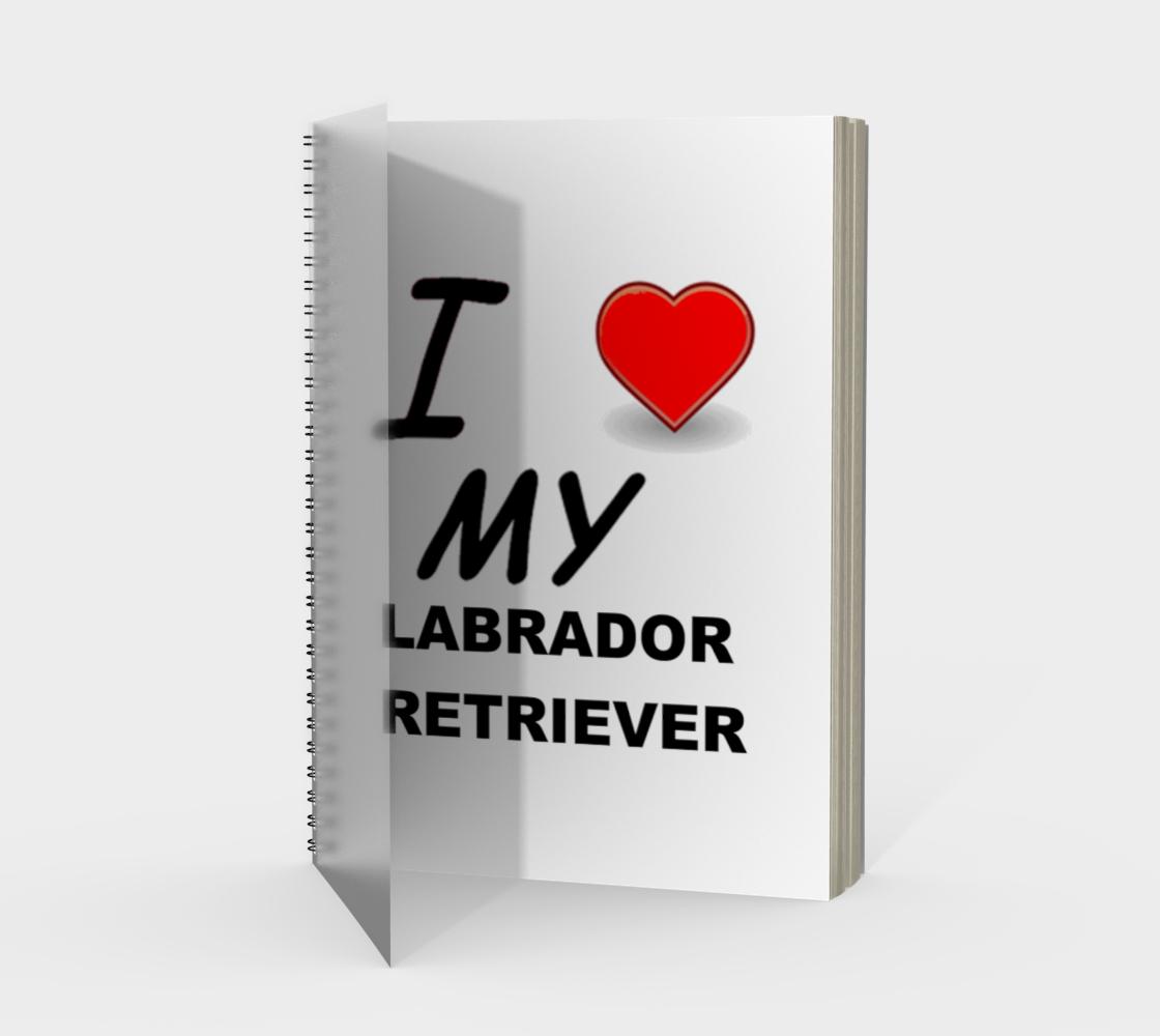 Labrador Retriever love spiral notebook preview