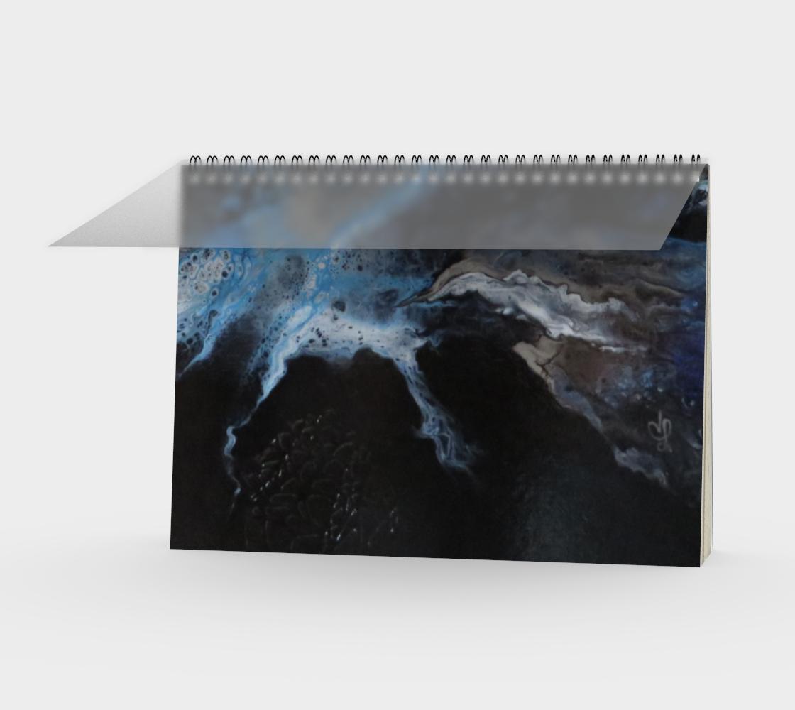 Aperçu de Les eaux déchainées - Carnet/spirale(paysage)