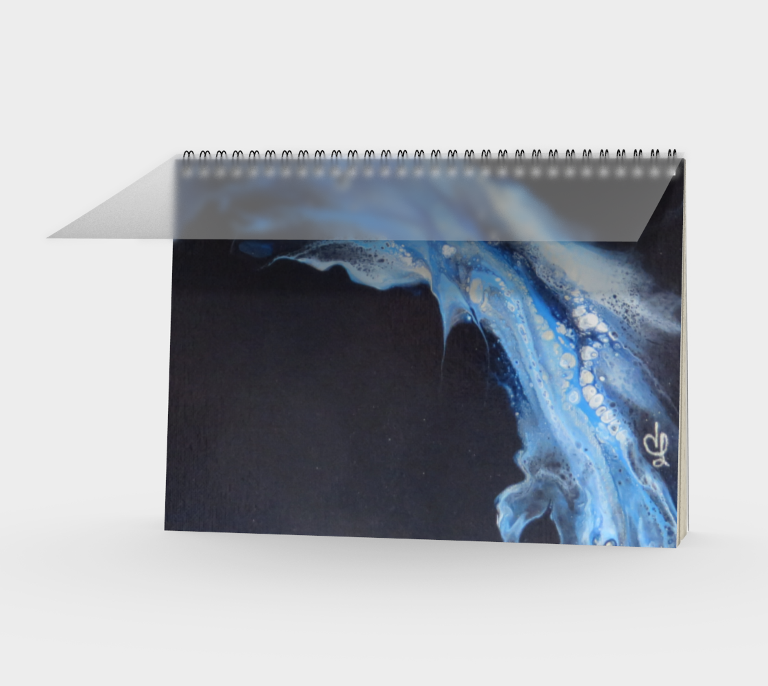 Aperçu de Flambée bleue - Carnet/spirale(paysage)