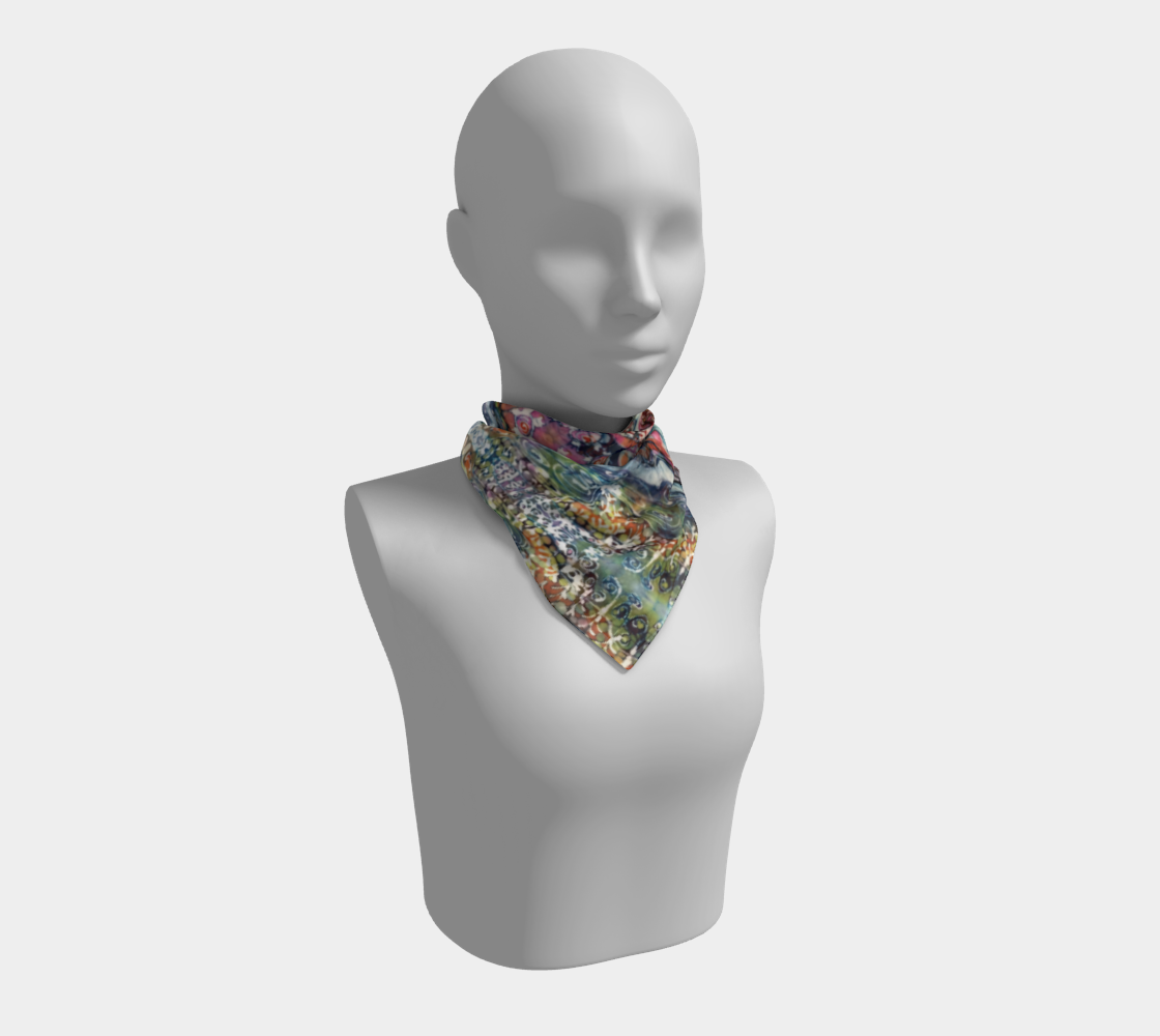 Earth Water Sky Square Scarf preview