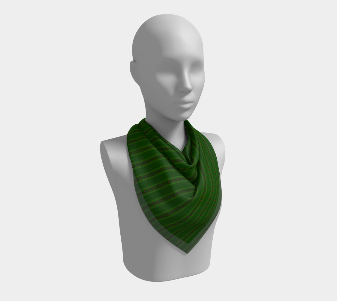 African Diagonal Green Flowers preview #2