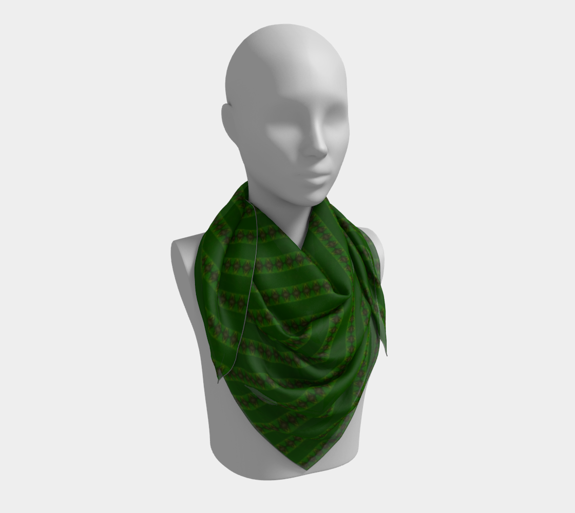 African Diagonal Green Flowers preview #3