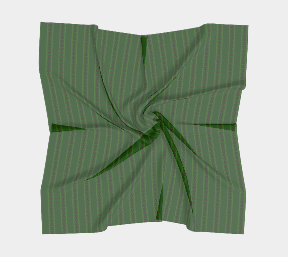 African Diagonal Green Flowers preview #5
