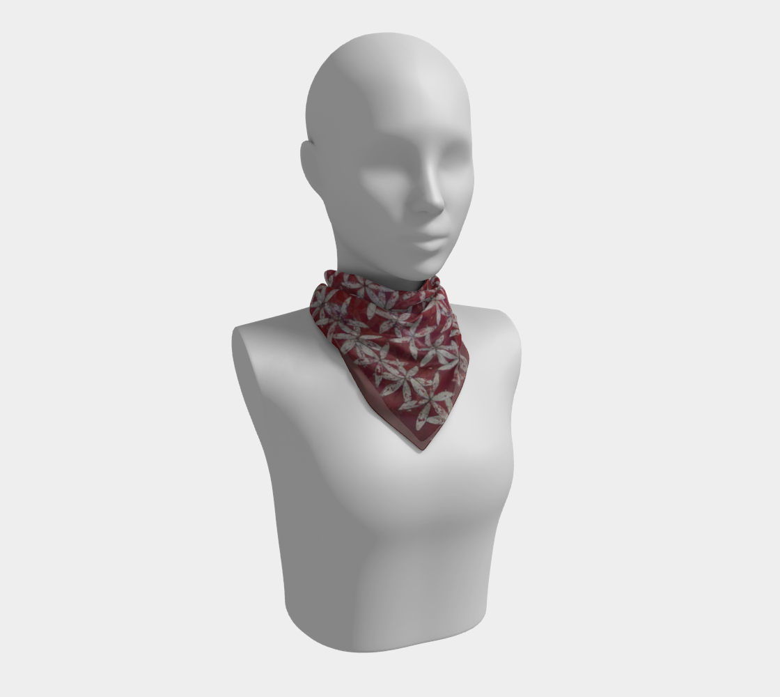 Make America Bloom Again - Flag Inspired Red White & Blue Flower of Life Square Scarf preview