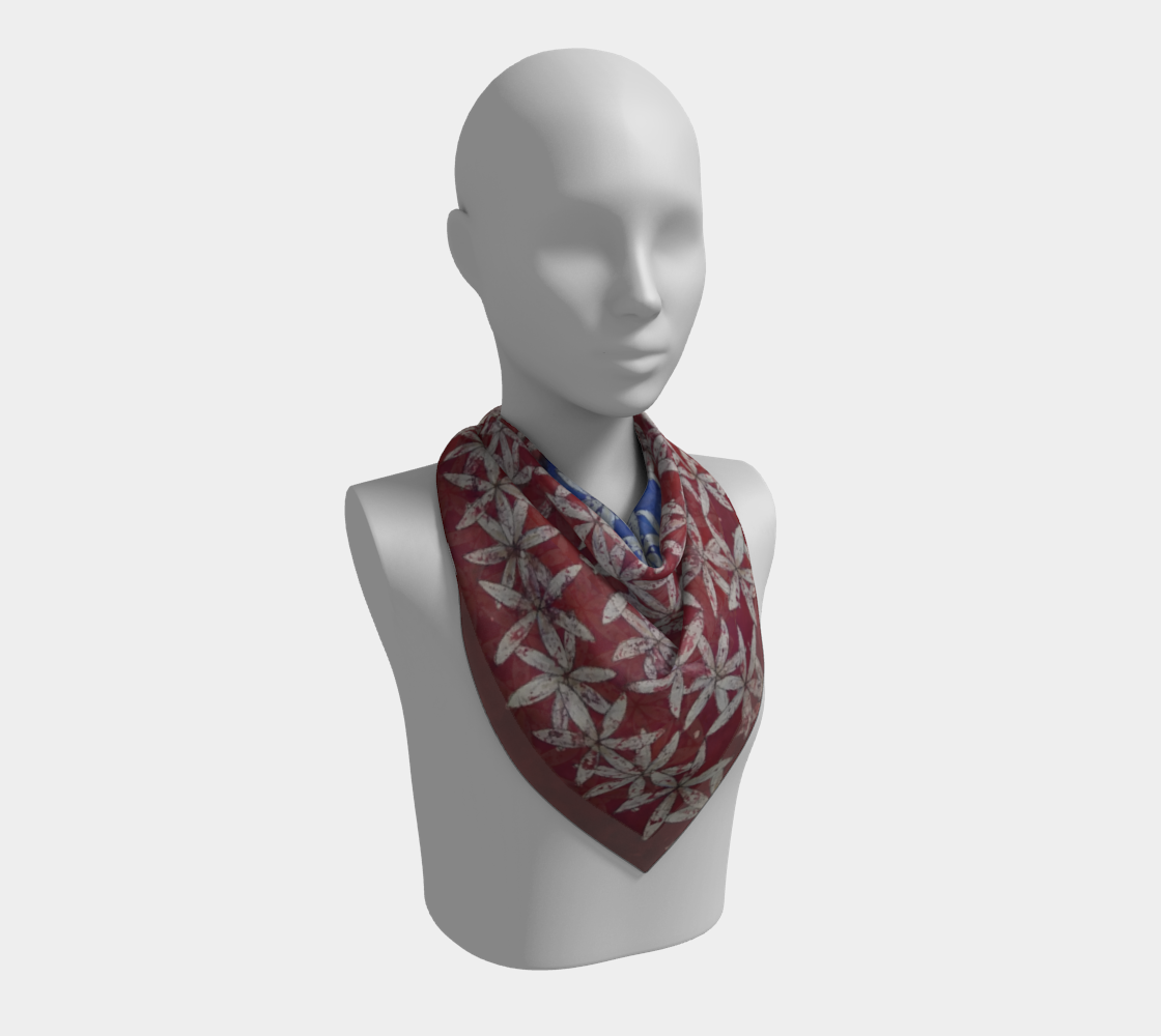 Make America Bloom Again - Flag Inspired Red White & Blue Flower of Life Square Scarf preview #2