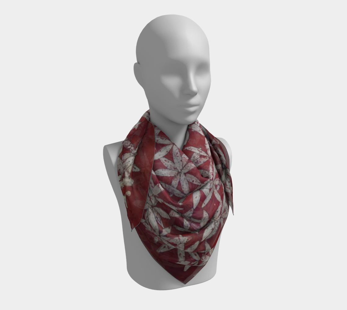 Make America Bloom Again - Flag Inspired Red White & Blue Flower of Life Square Scarf preview #3