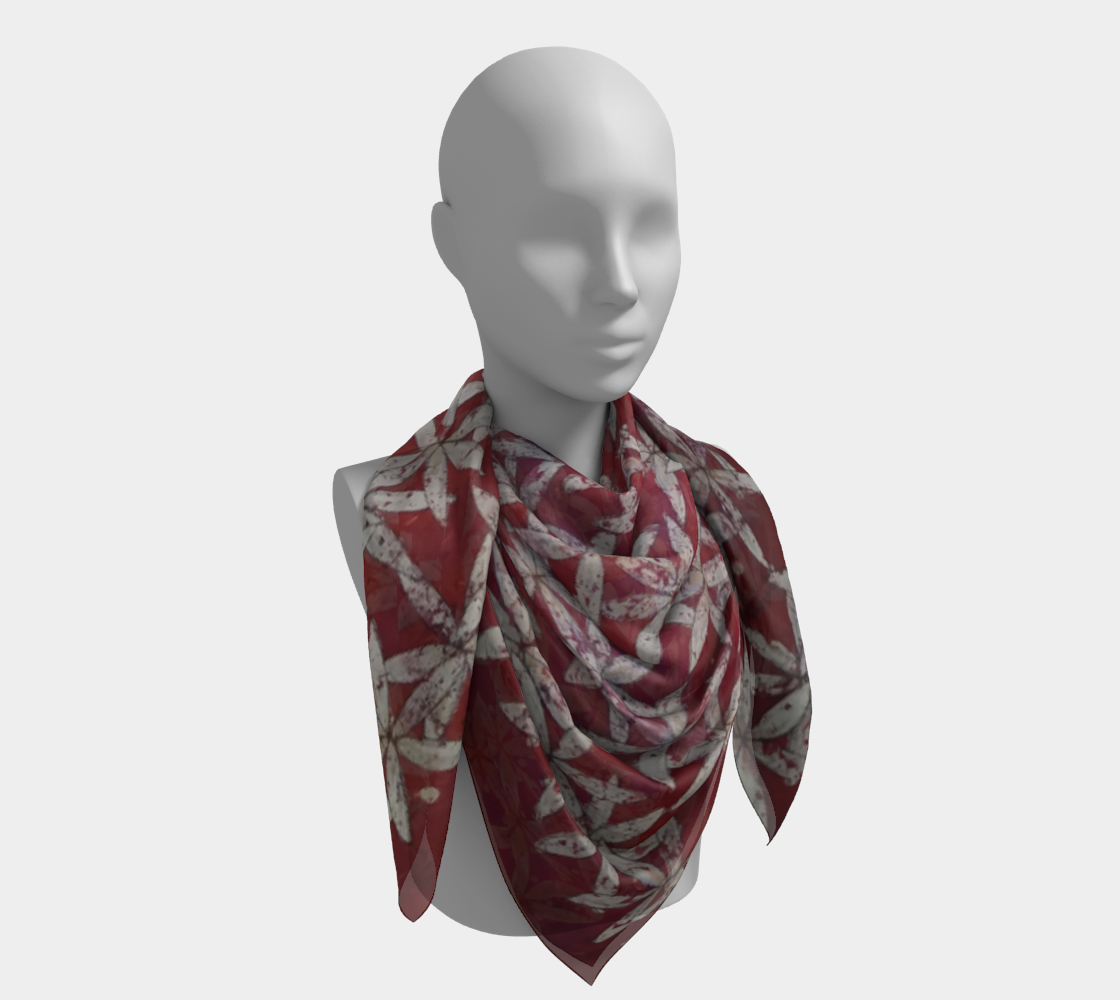 Make America Bloom Again - Flag Inspired Red White & Blue Flower of Life Square Scarf preview #4