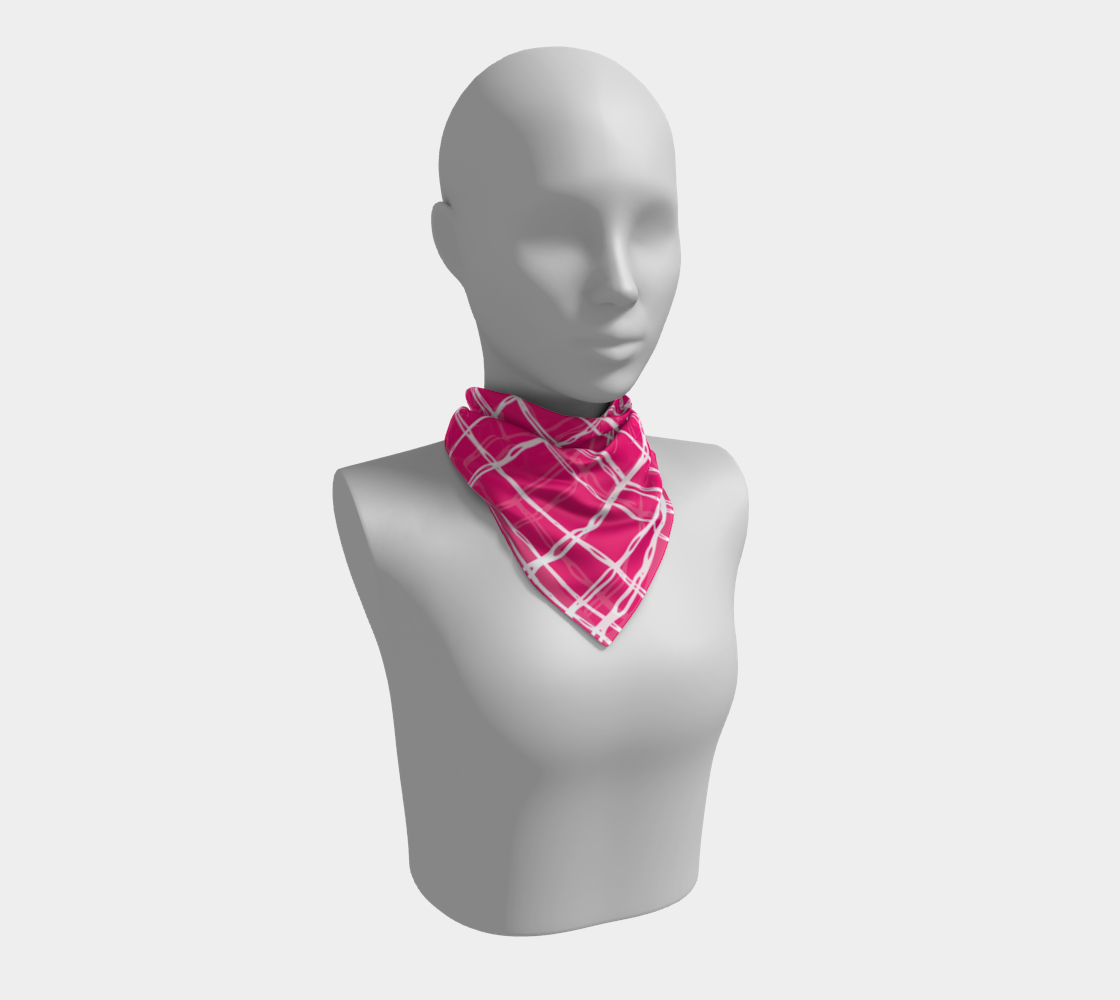 Pink and White Geometric Line Pattern Square Scarf preview