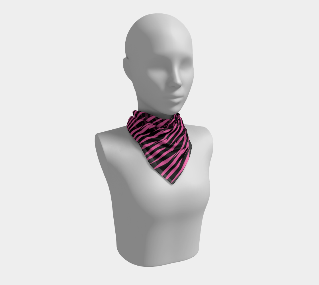 Pink and Black Ice Abstract Square Scarf preview