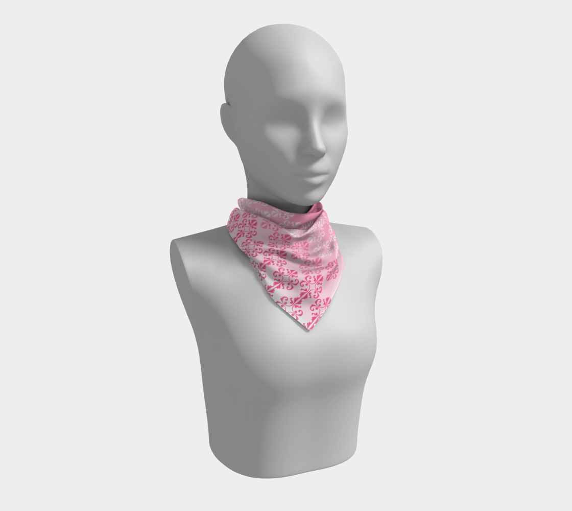 Pink Ombre Damask Pattern Square Scarf preview