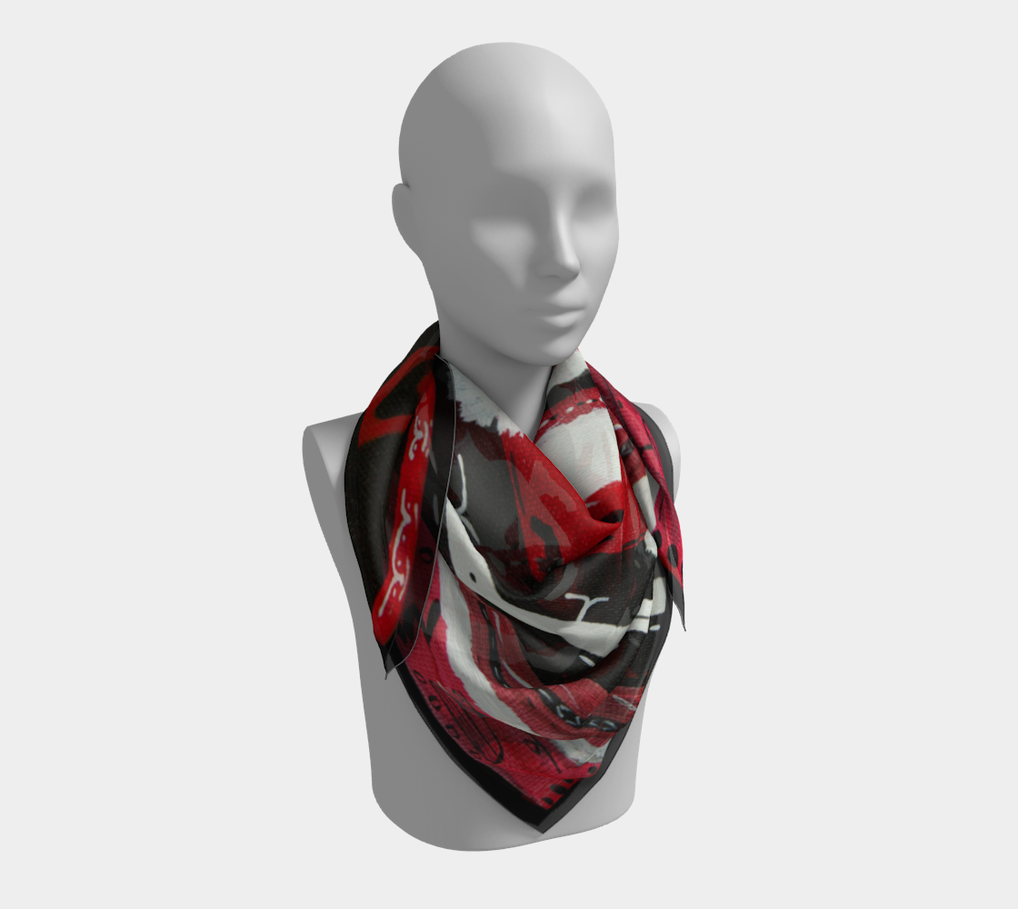 Snow Falling Regalia Inspired Scarf preview #3