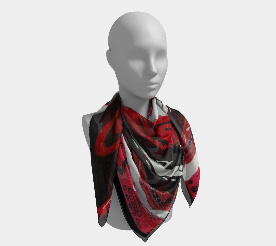 Snow Falling Regalia Inspired Scarf preview #4