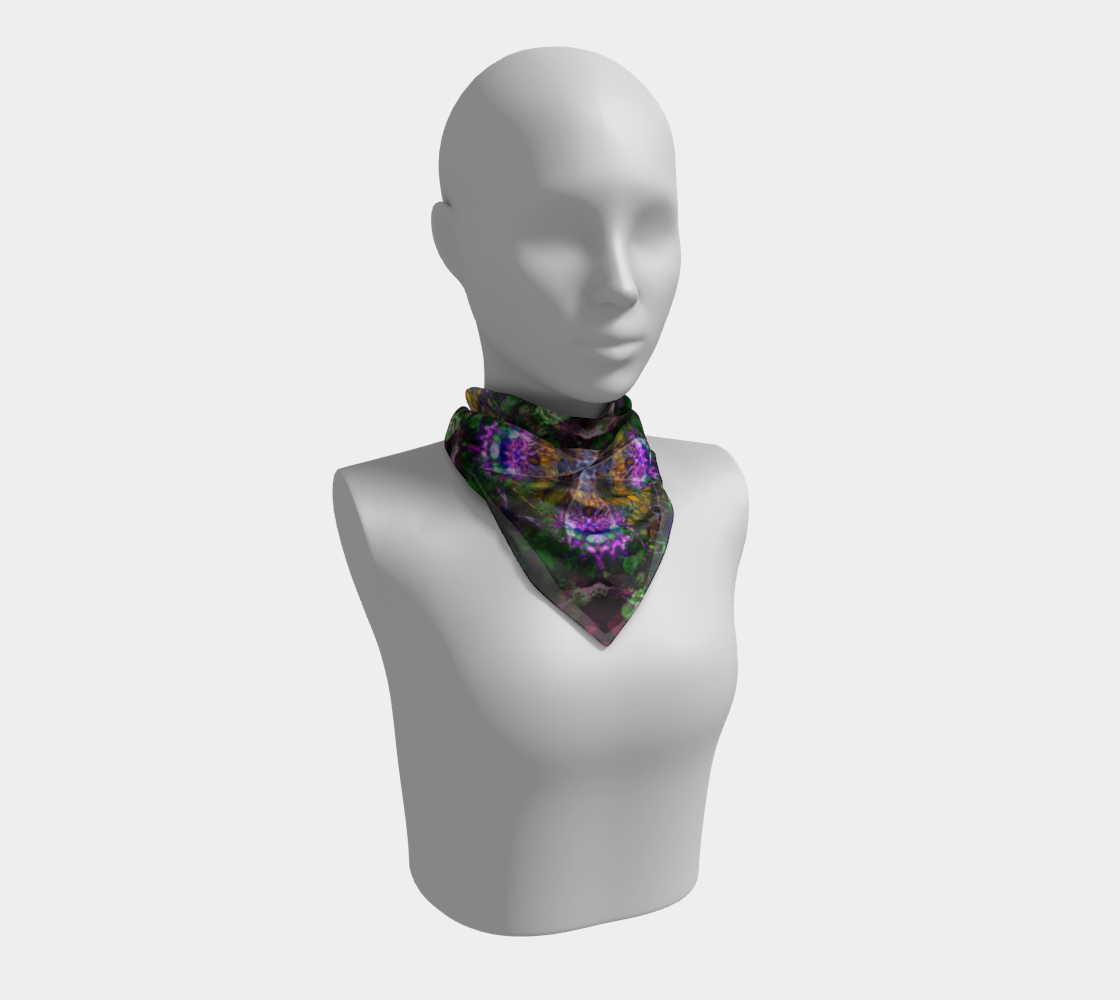 Electric butterfly square scarf preview