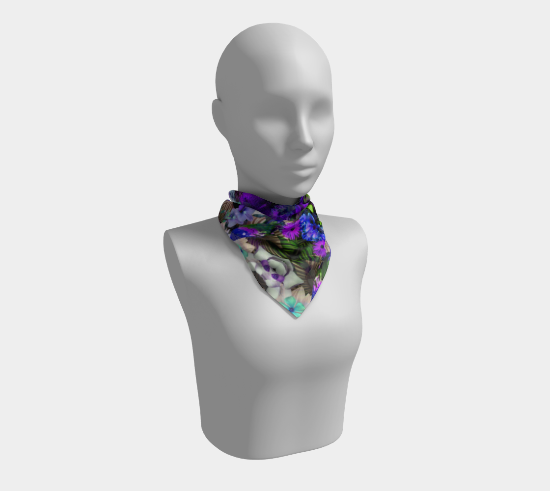 Tropical jungle square scarf preview