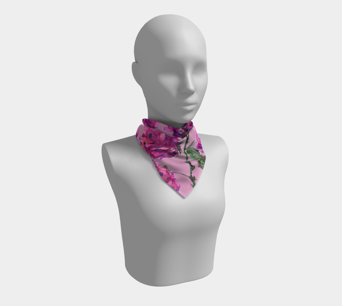 Purple Roses Floral Pattern Square Scarf preview