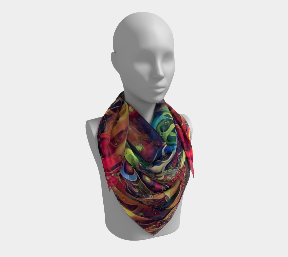 On The Fringe Square Scarf preview #3