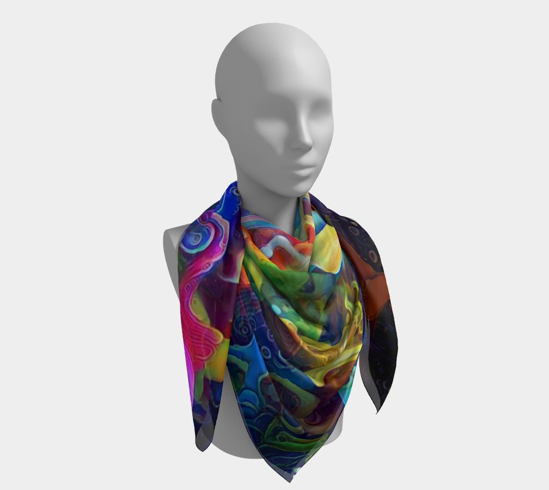 Floating Square Scarf preview #4