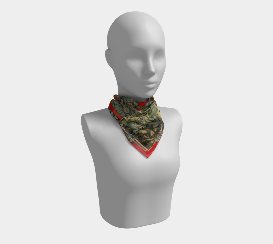 Victorian Vegetables Square Scarf preview
