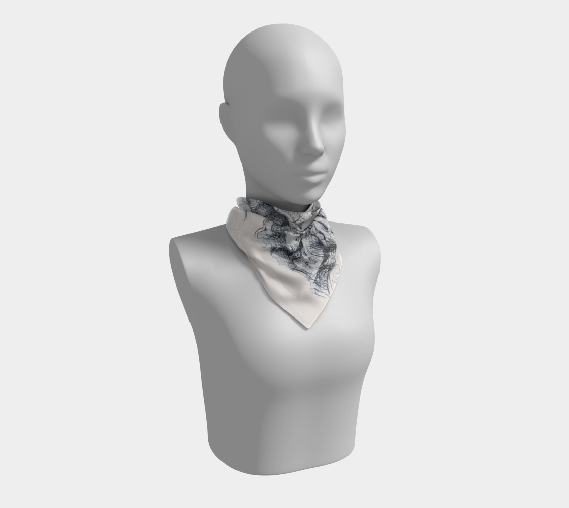 Place Blanche Subtle-Square Scarf by Lowell S.V. Devin preview