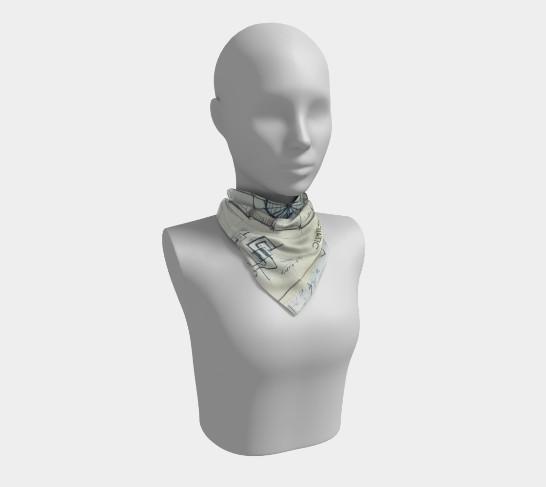 Tour Chamber Schematic / Architect's Square Scarf preview