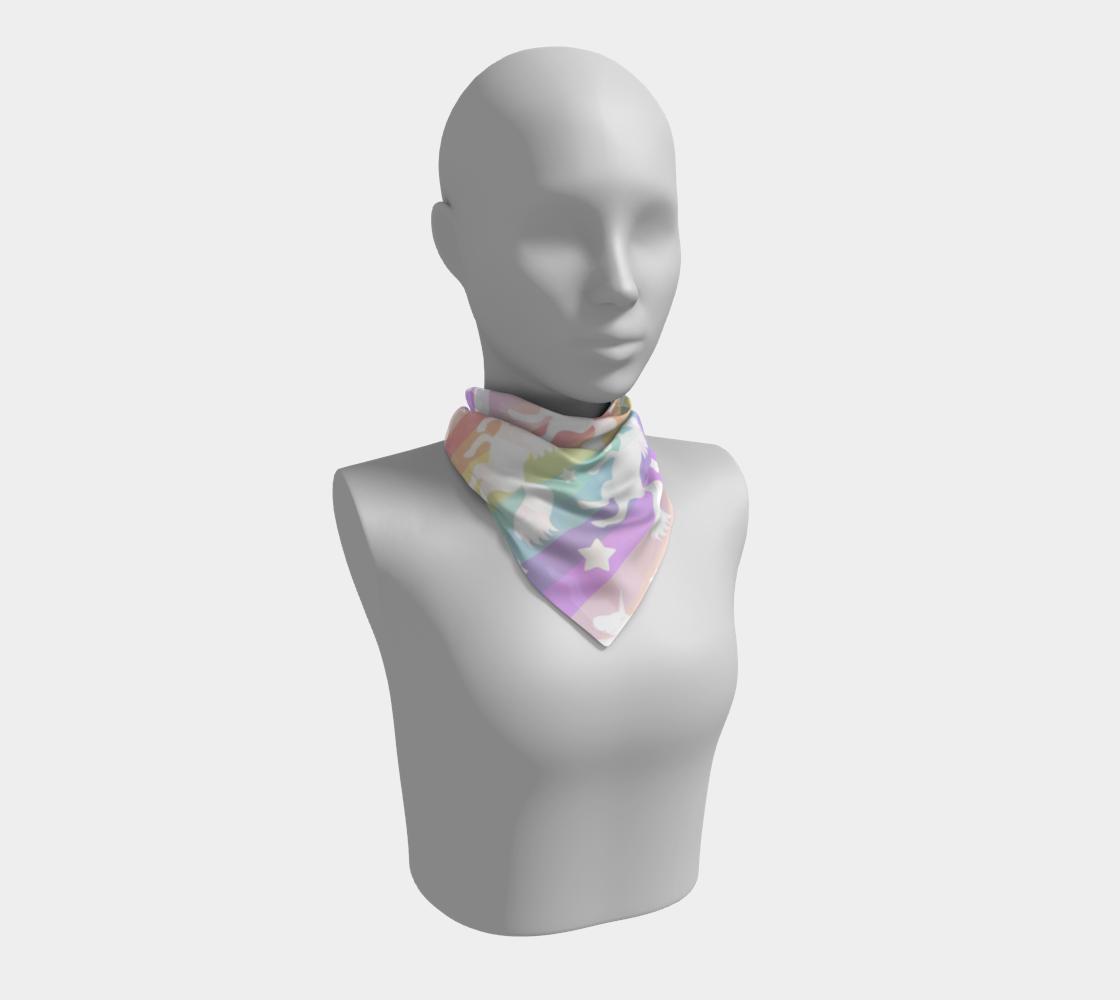 Unicorn Rainbow Silk Scarf  preview