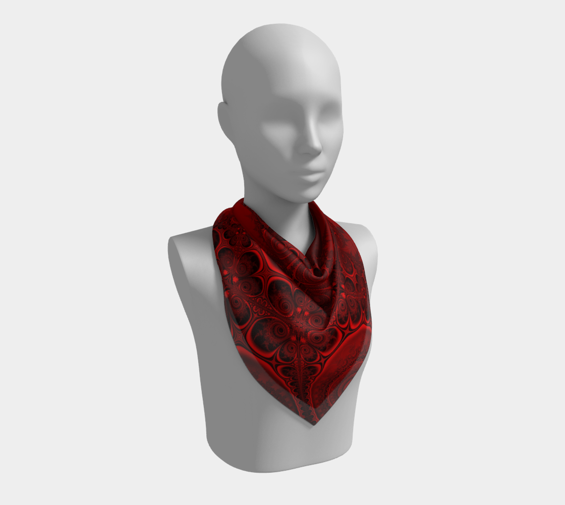 Red and Black Fractal Swirls Spirals preview #2