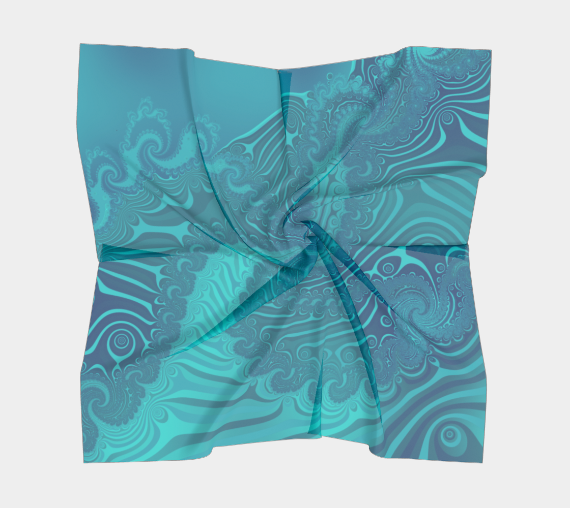 Ocean Waves Turquoise Blue preview #5