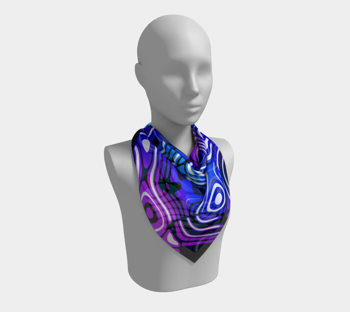 Blue and Purple Swirl Stripe Pattern preview #2