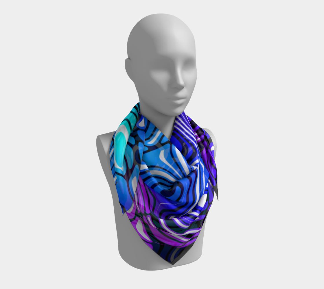 Blue and Purple Swirl Stripe Pattern preview #3
