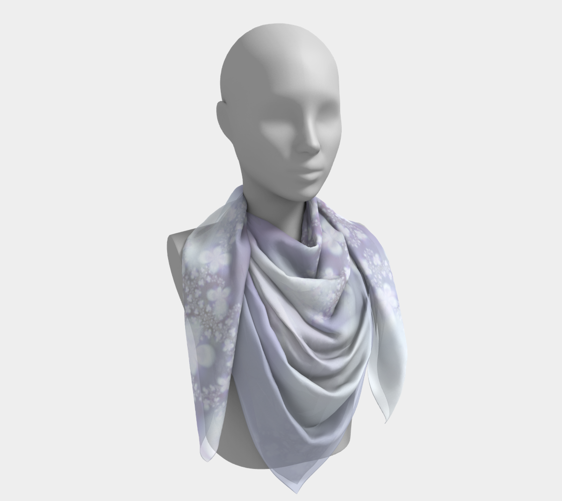 Pastel Floral Pattern Lavender and White preview #4