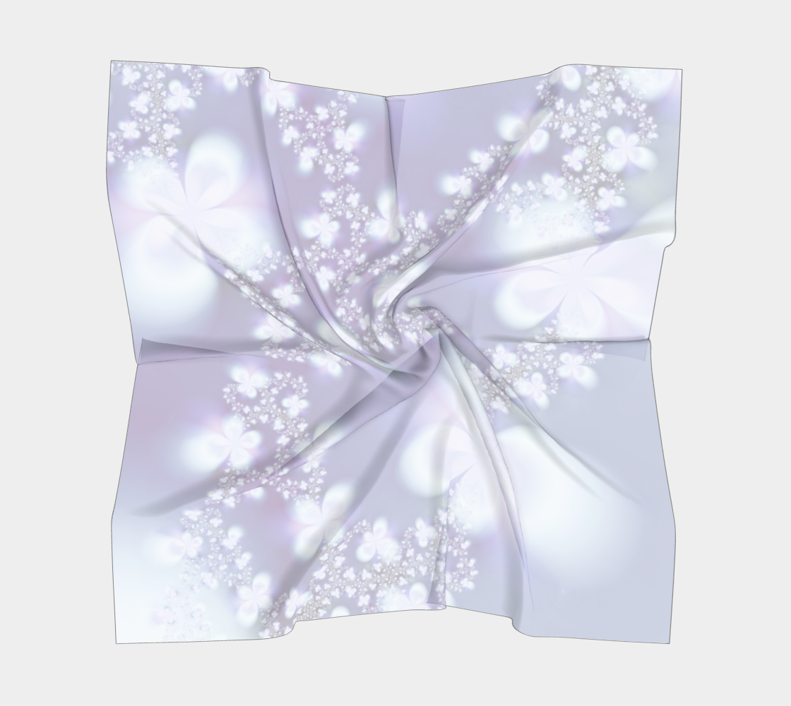 Pastel Floral Pattern Lavender and White preview #5