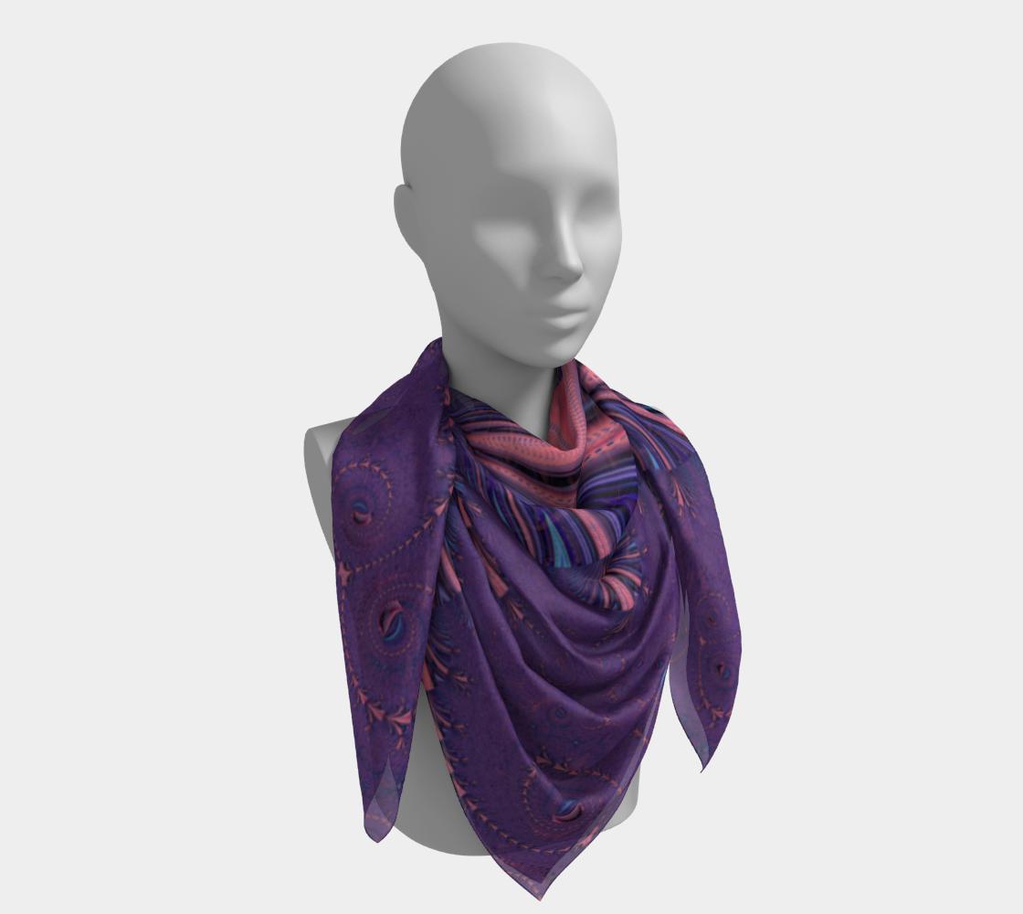 Purple Floral Flourish Stylish Design preview #4