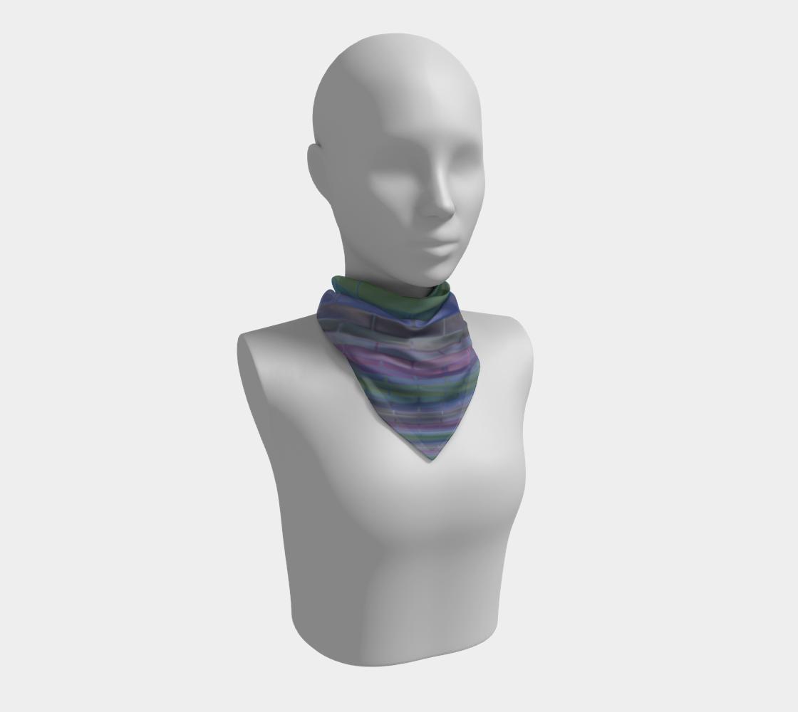 Aperçu de Pastel Blue Green Purple Stripe Pattern