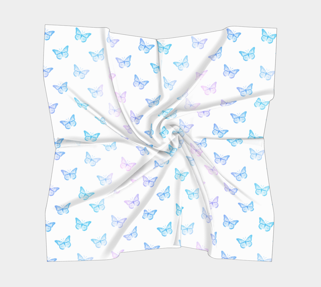 Butterflies Pattern in Blue White PInk preview #5