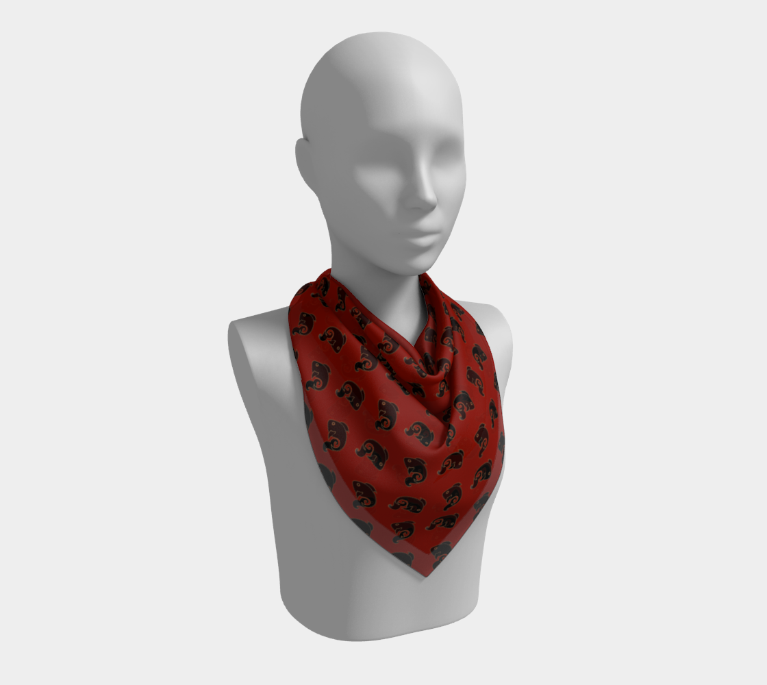 Fish Pattern in Red and Black preview #2