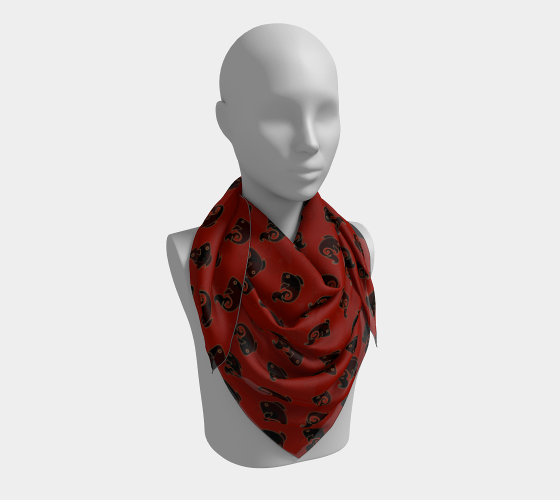 Fish Pattern in Red and Black preview #3