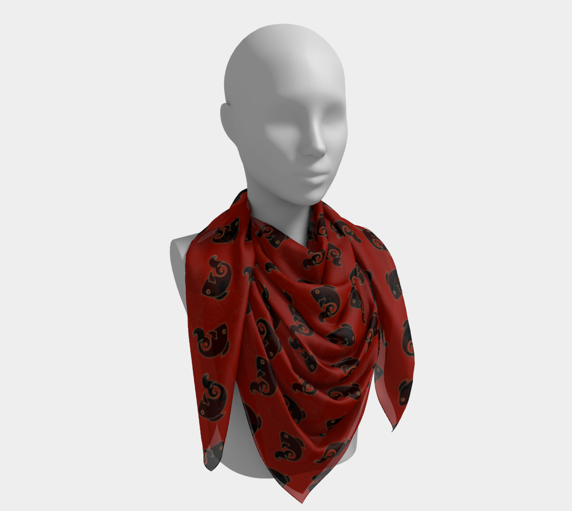 Fish Pattern in Red and Black preview #4