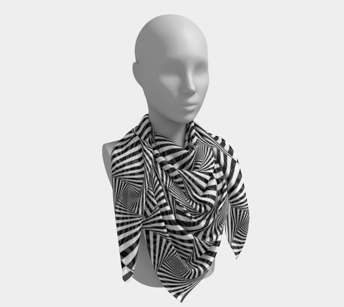 Hypnotic Black and White Stripe Geometric Pattern preview #4