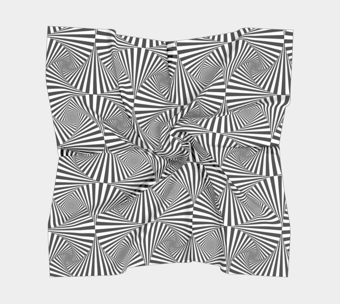 Hypnotic Black and White Stripe Geometric Pattern preview #5