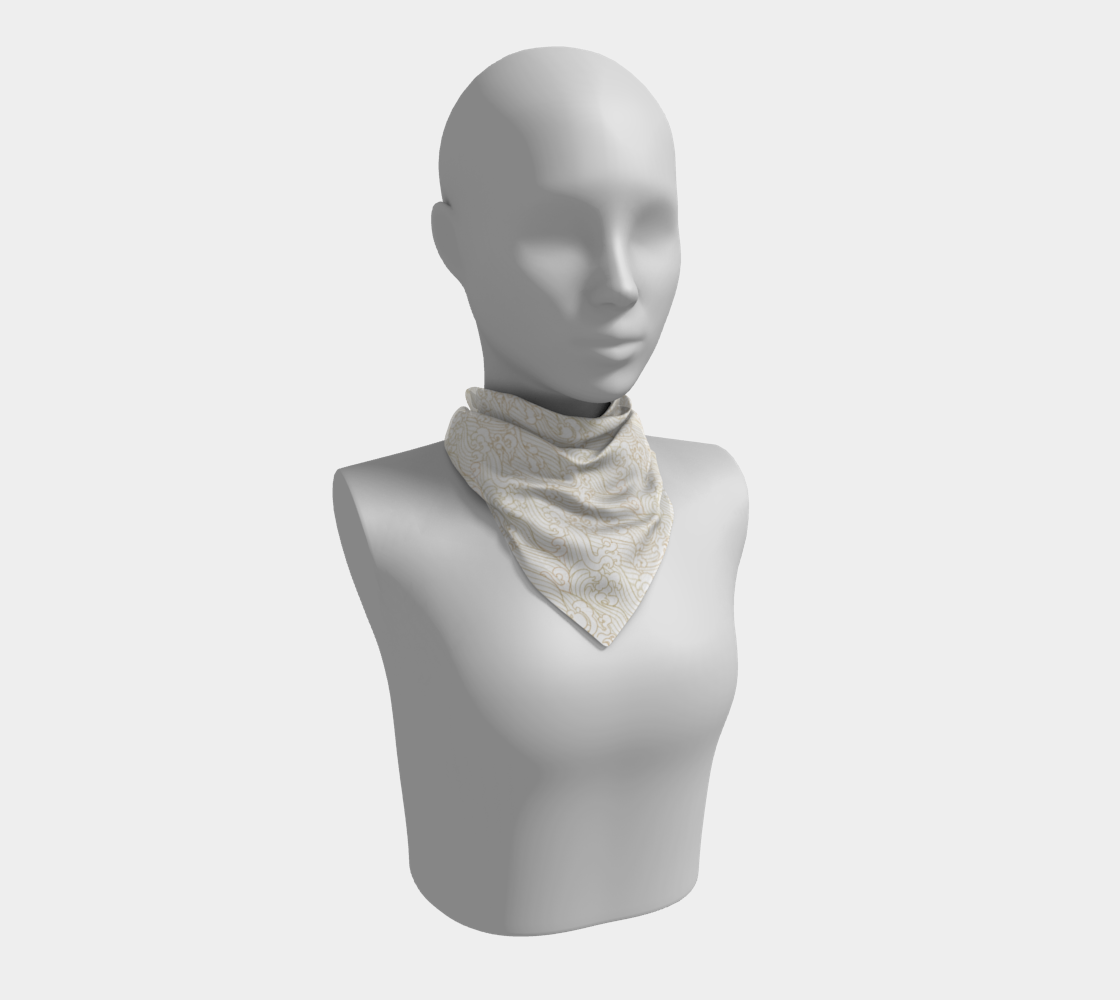 Golden Waves in White Square Scarf preview