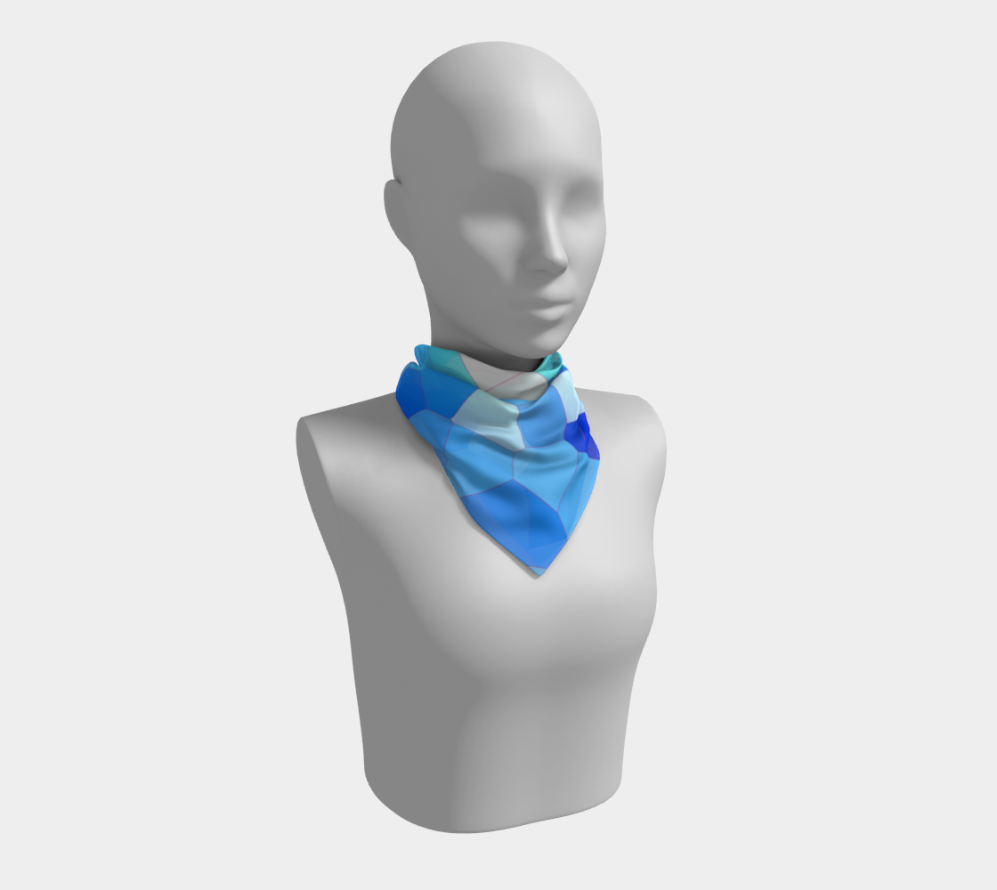 Blue Sky Abstract Pattern Square Scarf  preview