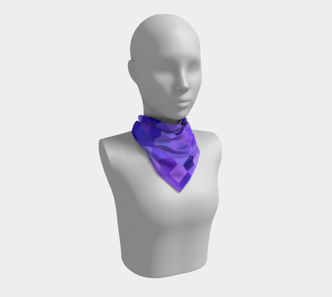 Abstract Purple Surface Pattern Square Scarf preview