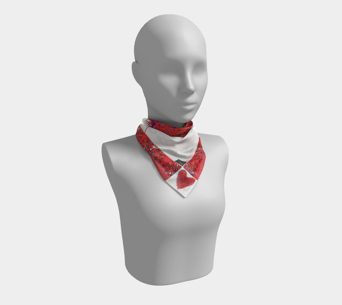 Slash Red Heart Scarf preview