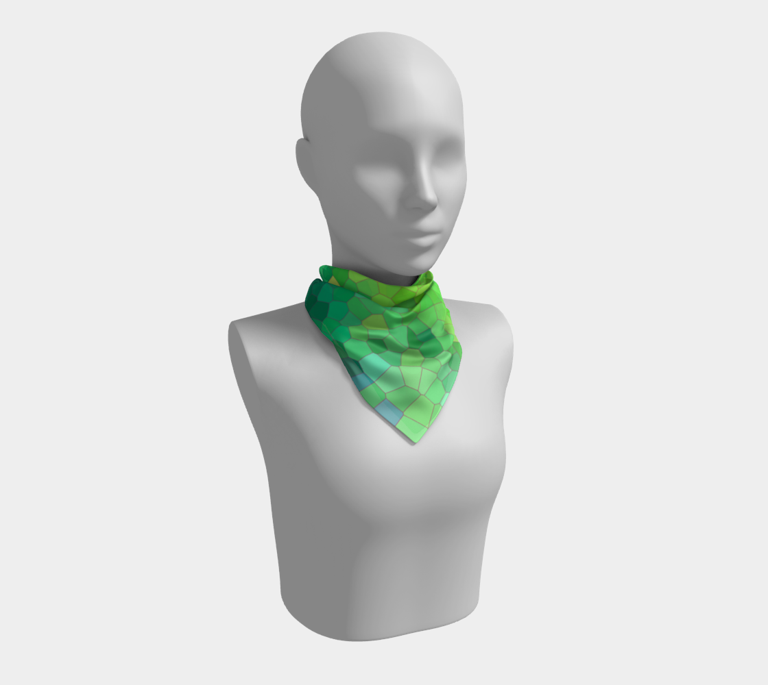 Abstract Green Reptile Skin Pattern Square Scarf preview